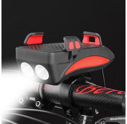 Supporto Smartphone con Batteria 4000mAh, Doppia luce frontale e Clacson